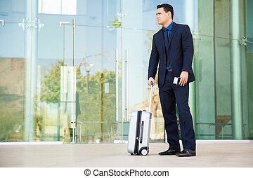 Businessman ready to travel