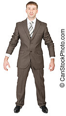 Businessman ready to work