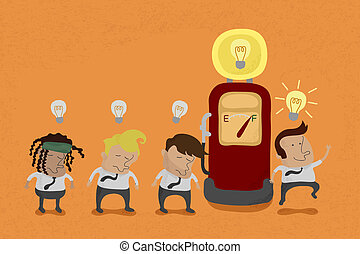 Businessman recharge the Idea , eps10 vector format
