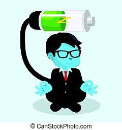 businessman recharging