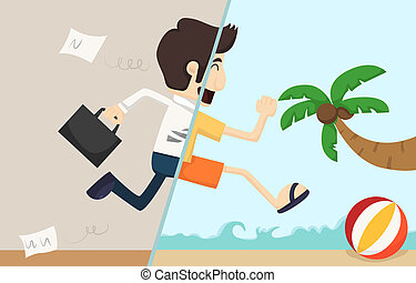 Businessman relax ,  eps10 vector format