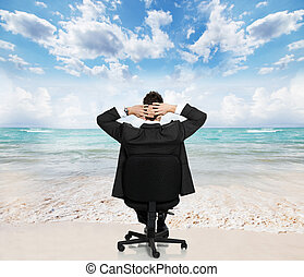 businessman., relaxen