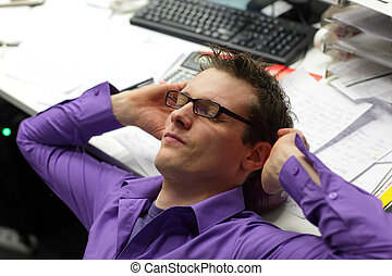 businessman relaxing neck