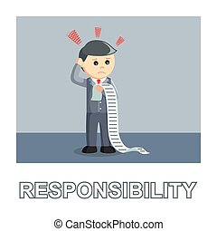 Businessman responsibility photo text style