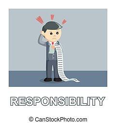 Businessman responsibility photo text style