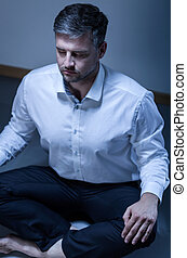 Businessman resting in the office
