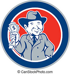 Businessman Rich Man Money Cartoon