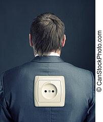Businessman robot