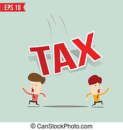 Businessman run away from tax burden