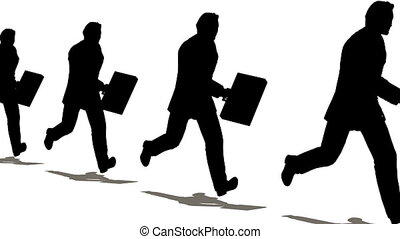 businessman run with case