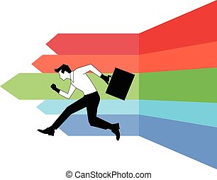 Businessman running design