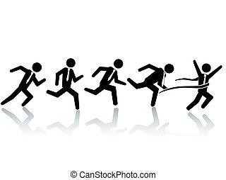 businessman running race
