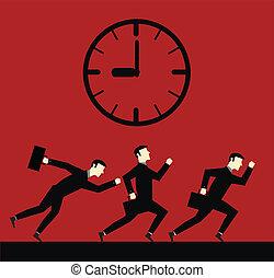 Businessman Running Time