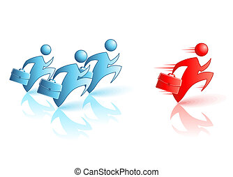 Businessman Running. Vector Concept illustration. Catch the ...