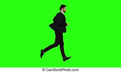 Businessman runs to work, is late for an important meeting....
