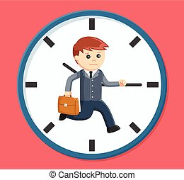 businessman rush hour