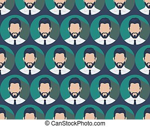 businessman seamless pattern