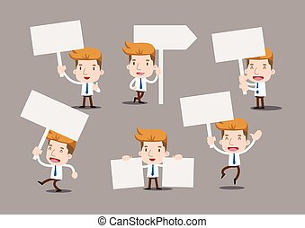 Businessman series - blank sign