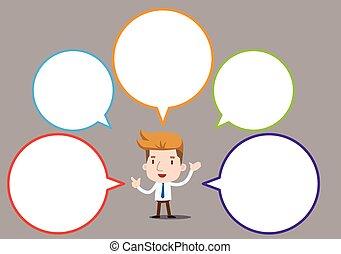 Businessman series - speech bubble