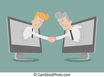 Businessman shake hand