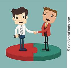 Businessman shaking hand , eps10 vector format
