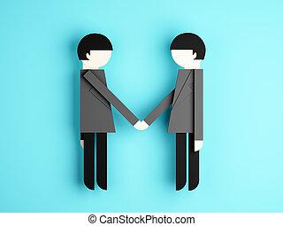 Businessman shaking hands conception