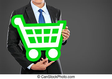 businessman shopping concept