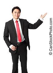 Businessman showing