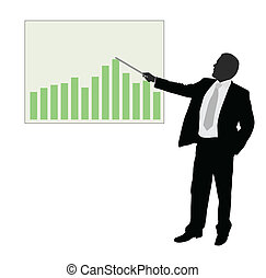 businessman showing presentation -
