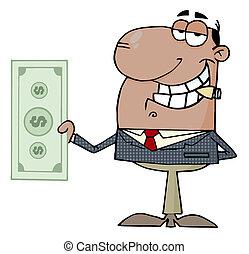 Businessman Shows Big Dollar