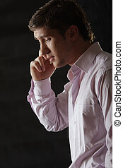 Businessman sideview