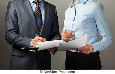 Businessman signing contract/document