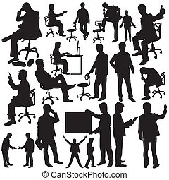 Businessman Silhouette Collection v
