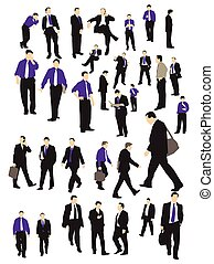 Businessman silhouettes
