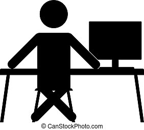 businessman sitting at the computer