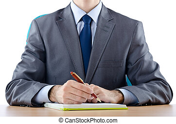 Businessman sitting at the table