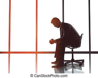 businessman sitting in office