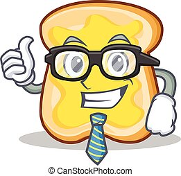 Businessman slice bread cartoon character vector art...
