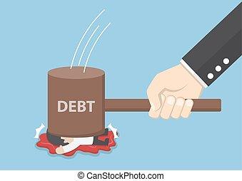 Businessman smashed by hammer of debt