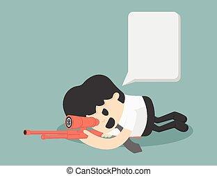Businessman Sniper VECTOR, EPS10