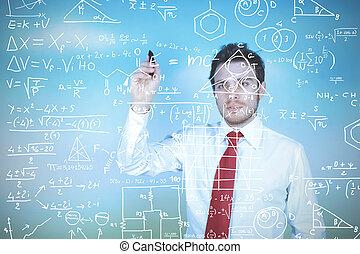 Businessman solves problems - Concept of a businessman that...