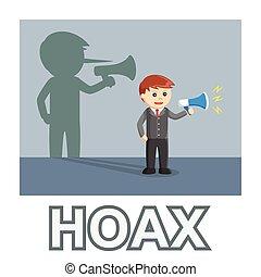Businessman spreading hoax
