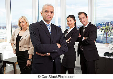 Businessman standing in front