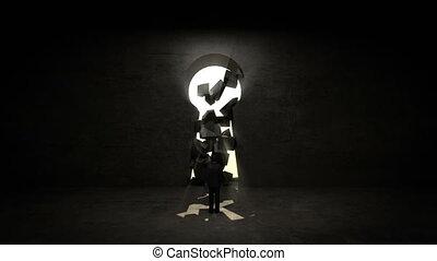 businessman Standing Key wall