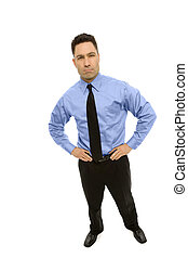 Businessman stands in a suit - Businessman stands wearing a...
