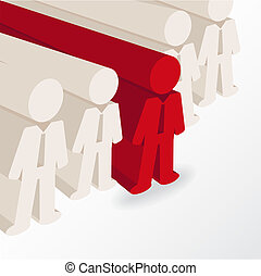 businessman stands out. conceptual illustration in vector...
