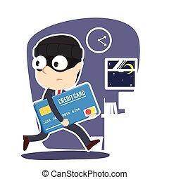 Businessman stealing credit card