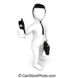 businessman stile cartoon in 3D