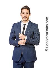 businessman - Fashion shot of a handsome man wearing elegant...