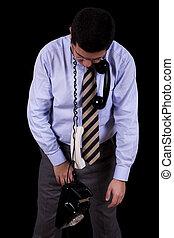 businessman strangle